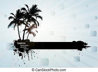 tropicais, fundo