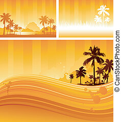 tropicais, fundo, desenho
