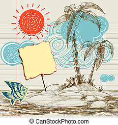 tropicais, fundo, voador, mar, paraisos , feriado
