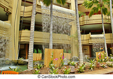 tropicais, hotel, 2, lobby