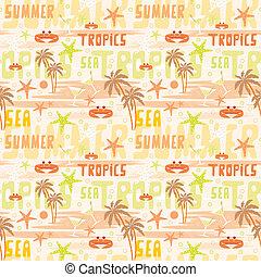 tropicais, padrão, seamless