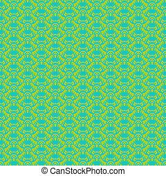 tropicais, padrão, vetorial, verde, seamless