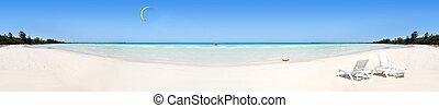 tropicais, panorama, praia