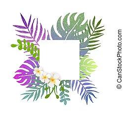 tropicais, verão, flores, fundo