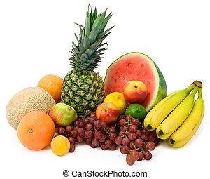 tropicais, vibrante, frutas