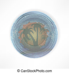 Tropical abstract background plate