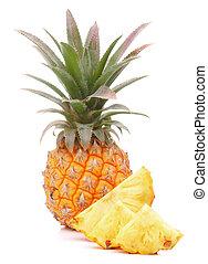 tropical, ananas, fruta, o, piña