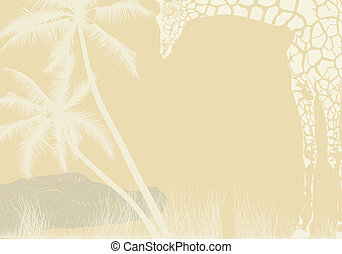 Tropical animal background