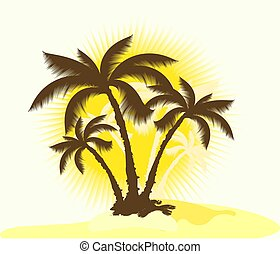 Tropical background.