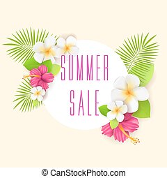 Tropical background - summer sale