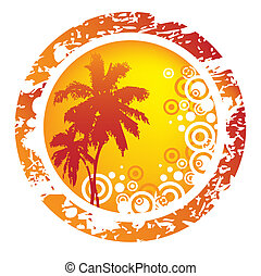 Tropical background - Orange tropical abstract background