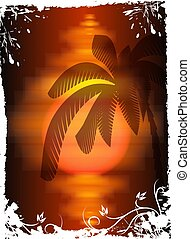 Tropical background. Vector