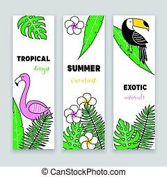 tropical, banderas