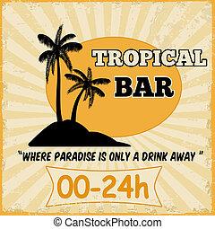 Tropical bar vintage poster