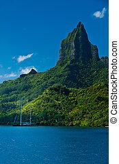 Tropical bay off Moorea Tahiti