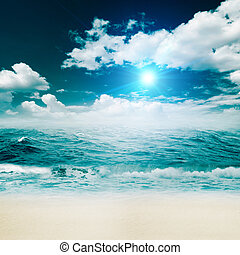 Tropical beach, abstract environmental backgrounds for your desi