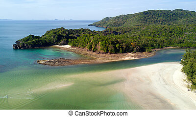 Tropical beach aerial view