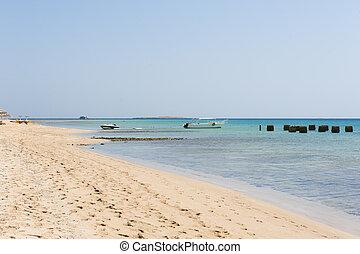 Tropical beach and sea at resort