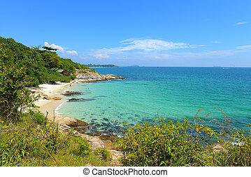 Tropical beach and sea in koh samed island Thailand