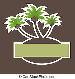 Tropical Beach Banner. vector