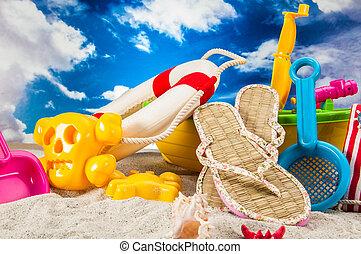 Tropical beach, holidays concept