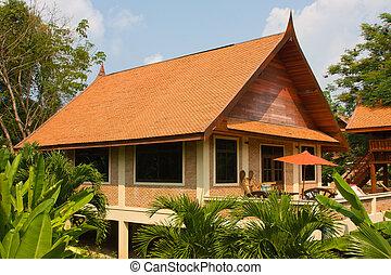 Tropical beach house on the island Koh Mak, Thailand