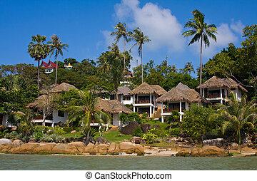 Tropical beach house on the island Koh Samui, Thailand
