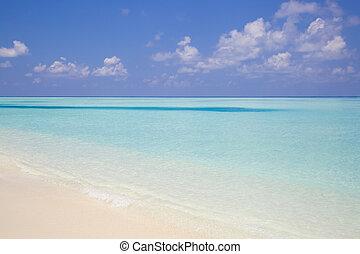 Tropical Beach in Paradise in Maldives