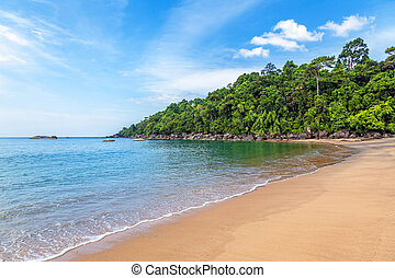 Tropical beach in the Thai province of Khao Lak