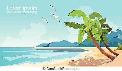 Tropical Beach Island Palm Tree Ocean Summer Vacation
