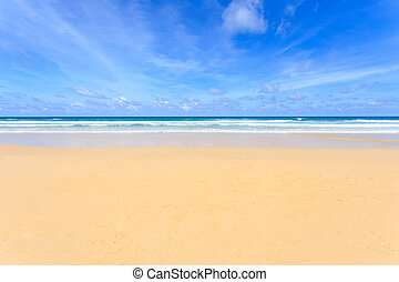Tropical beach, Kata Noi in phuket island, Andaman sea,...
