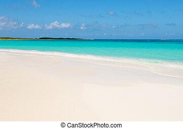 tropical beach, los roques islands, venezuela