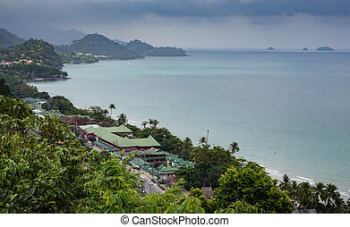 Tropical beach on the island of Koh Chang in Thailand