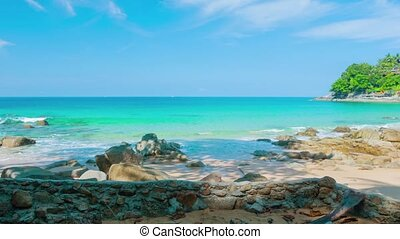 Tropical Beach Paradise on Andaman Sea in Thailand