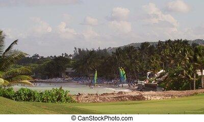 Tropical beach resort - Tropical Caribbean beachfront hotel...