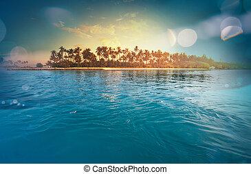 Tropical beach - Serenity tropical beach, instagram filter