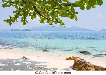 Tropical beach in island Koh Wai, Thailand.