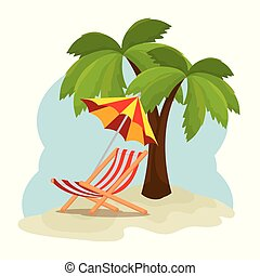 tropical beach summer scene