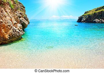 Tropical beach - Sunny tropical beach with crystalline sea