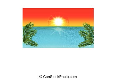Tropical beach template