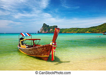 Tropical beach Thailand - Tropical beach, Phi-Phi Islands,...