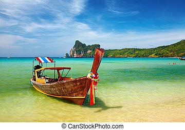 Tropical beach Thailand - Tropical beach, Phi-Phi Islands, ...