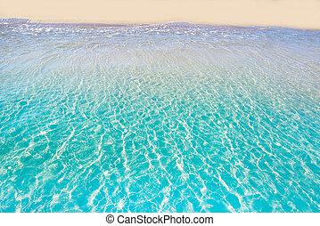 Tropical beach water transparent clear