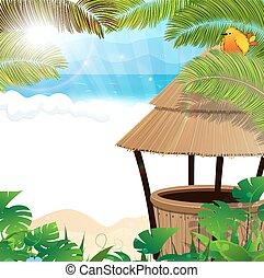 Tropical beach with cocktail Bar