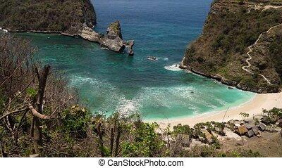 Tropical beautiful beach. Nusa Penida