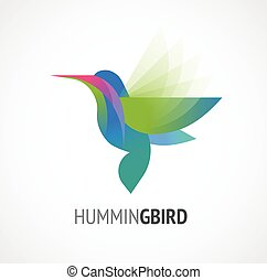 Tropical bird - humming vector icon - Tropical birds -...