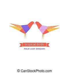 Tropical birds logo