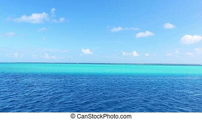tropical blue ocean, aqua lagoon - tropical island and blue...