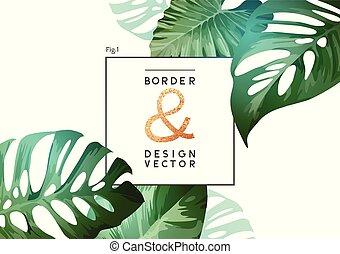 Tropical Botanical Frame Layout Design
