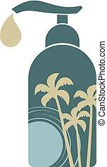 tropical, botella, agradable